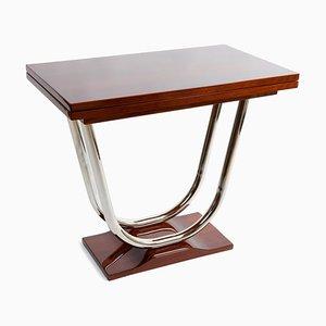 Table Basse Art Déco en Chrome et Palissandre, 1920s