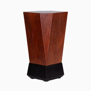 Oak Cubist Pedestal by Josef Gocar, Czechoslovakia, 1920s