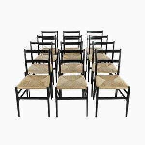 Chaises Leggera par Gio Ponti pour Cassina, Milano, 1960s, Set de 12