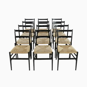 Leggera Chairs by Gio Ponti for Cassina, Milano, 1960s, Set of 12