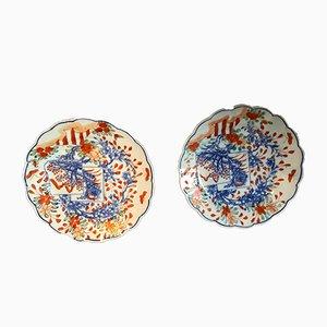 Porzellan Teller im Imari Stil, 2er Set
