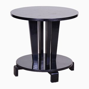 Small Black Czech Cubism Art Deco Black Coffee Table, 1910s