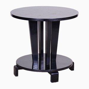Tavolino da caffè nero Art Déco cubismo ceco nero, anni '10