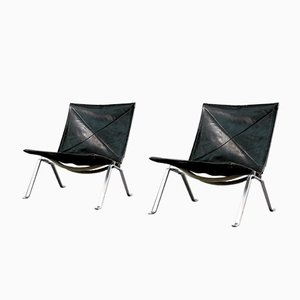 Mid-Century Lounge Chairs by Poul Kjærholm for E. Kold Christensen, Set of 2