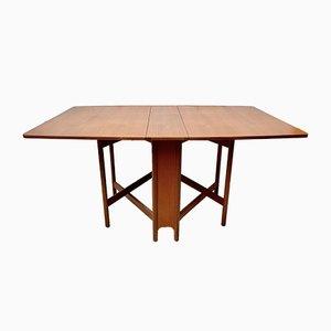 Tavolo da pranzo pieghevole vintage in teak di A. H. Mcintosh & Co LTD