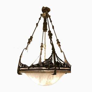 Französische Art Deco Deckenlampe, 1920er