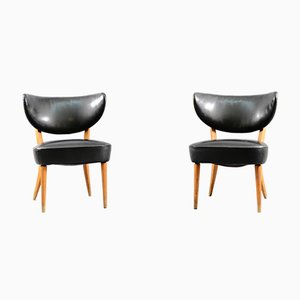 Mid-Century Danish Cocktail Wing Chairs, Set of 2