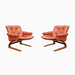 Lounge Chairs by Elsa & Nordahl Solheim for Rybo Rykken & Co, 1970s, Set of 2