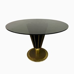 Brass And Iron Circular Dining Table by Pierre Cardin, 1970s