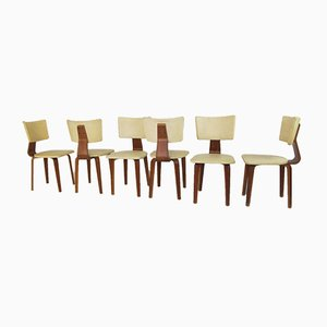 Mid-Century Vintage Plywood Dining Chairs by Cor Alons for Gouda den Boer, Set of 6