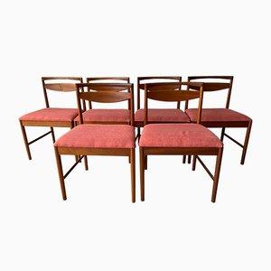 Teak Esszimmerstühle von McIntosh, 1970er, 8er Set