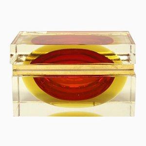 Murano Glass Box by Alessandro Mandruzzato, 1970s