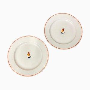 Art Deco Ceramic Plates by Gio Ponti for Richard Ginori, 1930s, Set of 2