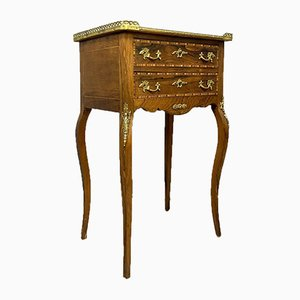 Louis XV Marquetry Bronze Console Table
