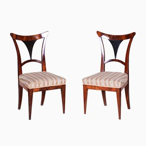 Walnut Austrian Biedermeier Chairs, 1810s, Set of 2