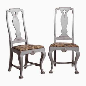 Swedish Rococo Style Chairs, 19th Century, Set of 6