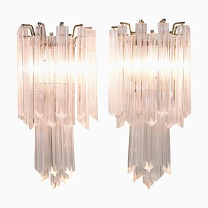 Mid-Century Modern Murano Glass Wall Sconces, Set of 2