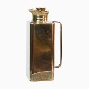 Thermos Flasche aus Messing von Renzo Cassetti, Italy