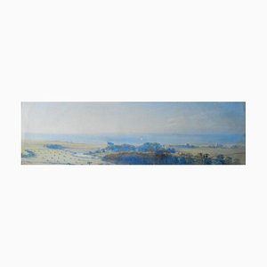 E F Moore, Panoramique View of the Sea, Early 20th Century, Watercolour