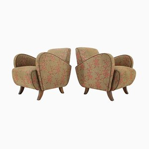 Art Deco Armchairs H-283 by Jindřich Halabala, 1930s, Set of 2