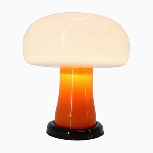 Mid-Century German Glass Table Lamp, 1970s