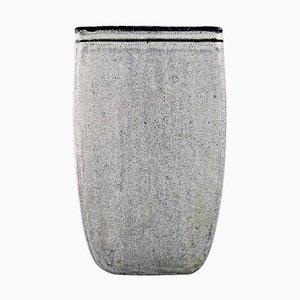 Vase aus glasierter Keramik von Nils Kähler für Kähler, Mitte des 20. Jahrhunderts