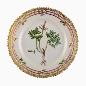 Royal Copenhagen Flora Danica Side Plate in Hand-Painted Porcelain with Flowers