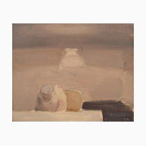 Olle Agnell, Composición abstracta, década de 1960, óleo sobre lienzo