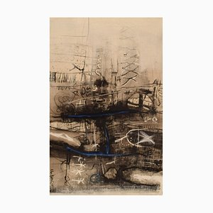 Eke Bjerén, Abstrakte Komposition, 1965, Öl auf Leinwand