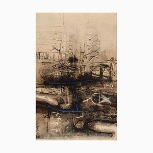 Eke Bjerén, Composición abstracta, 1965, Óleo sobre lienzo