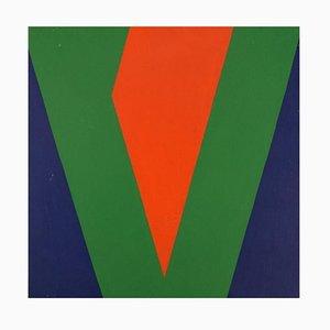 A. Dauggaard Hansen, Composición de hormigón, 1974, Óleo sobre lienzo