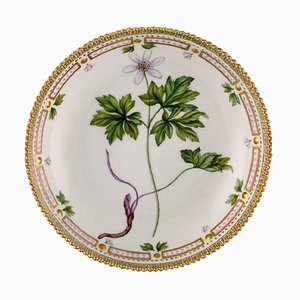 Royal Copenhagen Flora Danica Round Serving Bowl in Hand Painted Porcelain