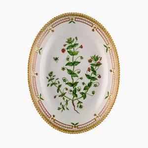 Flora Danica Ciotola da portata ovale in porcellana dipinta a mano di Royal Copenhagen