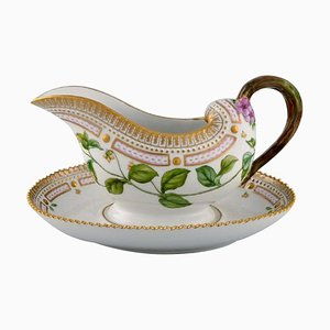 Flora Danica Sauce Boat in Hand Painted Porcelain with Flowers form Royal Copenhagen