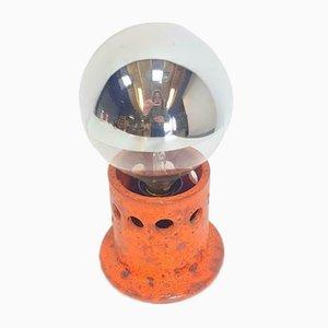 Vintage West German Orange Fat Lava Table Lamp, 1960s
