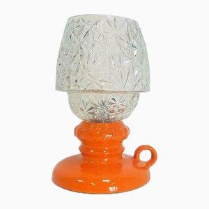 Lampe de Bureau Vintage en Verre Orange de l'Allemagne de l'Ouest, Fat Lava, 1960