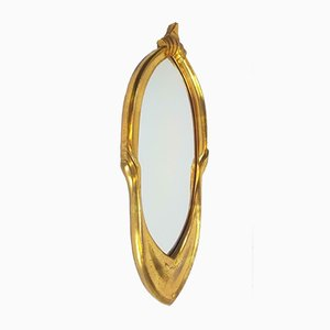 French Hollywood Regency Eclectic Gold Mirror, 1980s