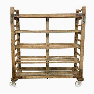 Vintage Französisch Holz Bäcker Rack