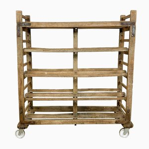Vintage French Wooden Bakers Rack