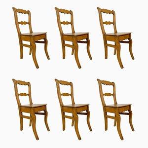 Antike schwedische Esszimmerstühle, 6er Set