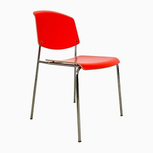 Red Pause Chair by Busk & Hertzog for Magnus Olesen