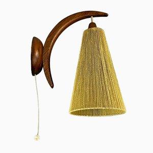 Dänische Teak Wandlampe von Temde, 1960er