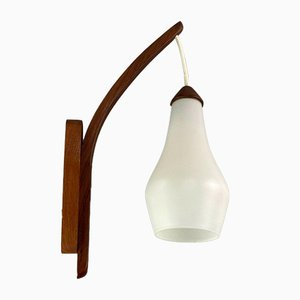 Teak Wall Lamp by Uno & Östen Kristiansson for Luxury, 1960s