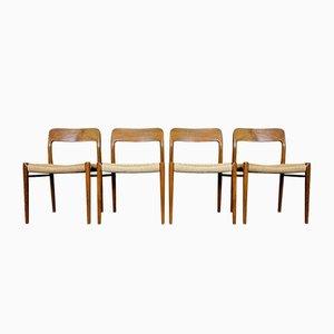 Esszimmerstühle aus Teak von Niels O. Moller für JL Møllers, 19 60er