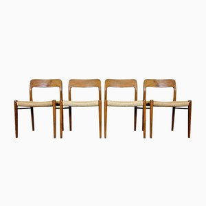 Esszimmerstühle aus Teakholz von Niels O. Moller für J. L. Møllers, 19 60er Jahre