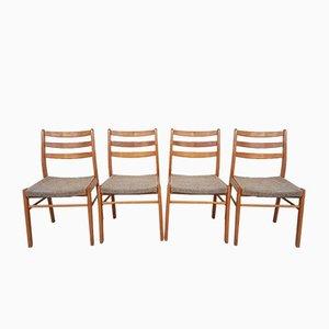 Mid-Century Beech Dining Chairs, 4er-Set