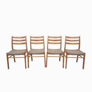 Mid-Century Beech Dining Chairs, Set of 4