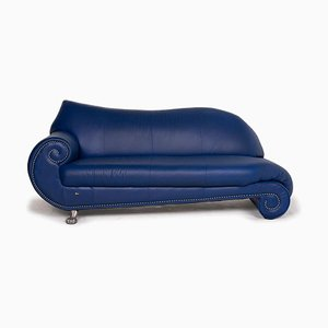 Gaudi Leather 3-Seat Sofa in Blue from Bretz