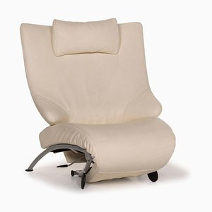 Cream Leather Solo 699 Lounger from WK Wohnen
