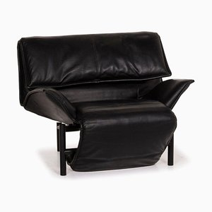 Veranda Leather Armchair in Black from Cassina